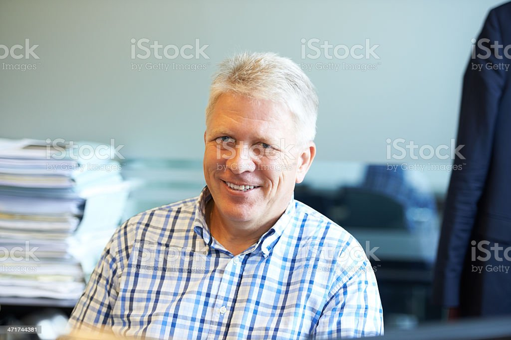 He's got experience you can trust! stock photo