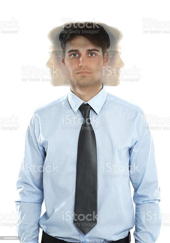 He's got his eyes on all business prospects stock photo
