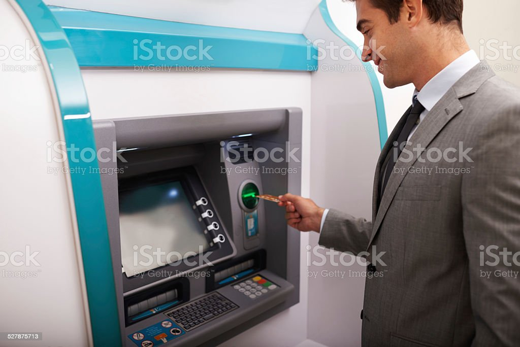 He's got more than sufficient funds stock photo