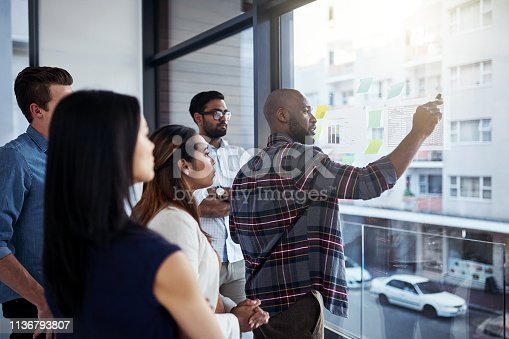 496441730istockphoto He's got new ideas to show to the team 1136793807