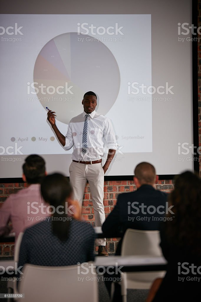 He's got some exciting new updates to deliver stock photo