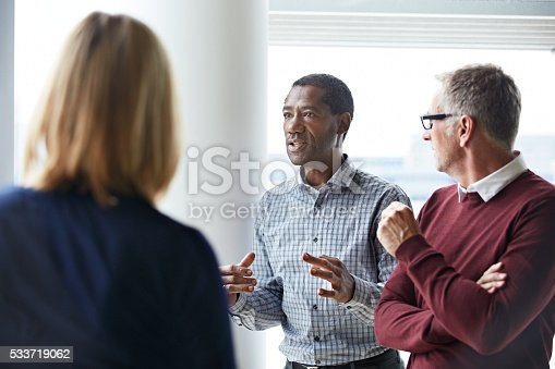 istock He's got some important points to add 533719062