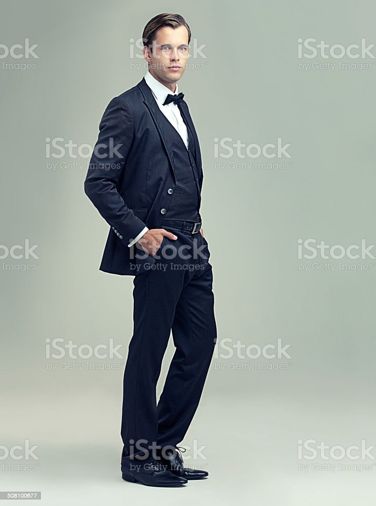 He's got style and class stock photo