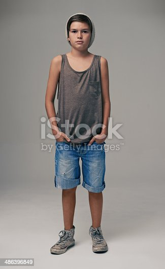 istock He's got the attitude to match his style 486396849