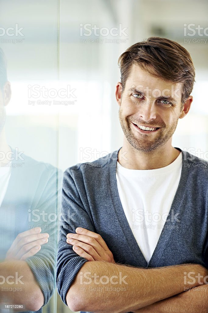 He's got the right attitude royalty-free stock photo