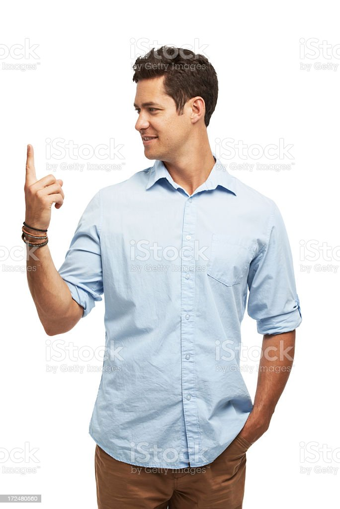 He's got the world at his fingertips royalty-free stock photo
