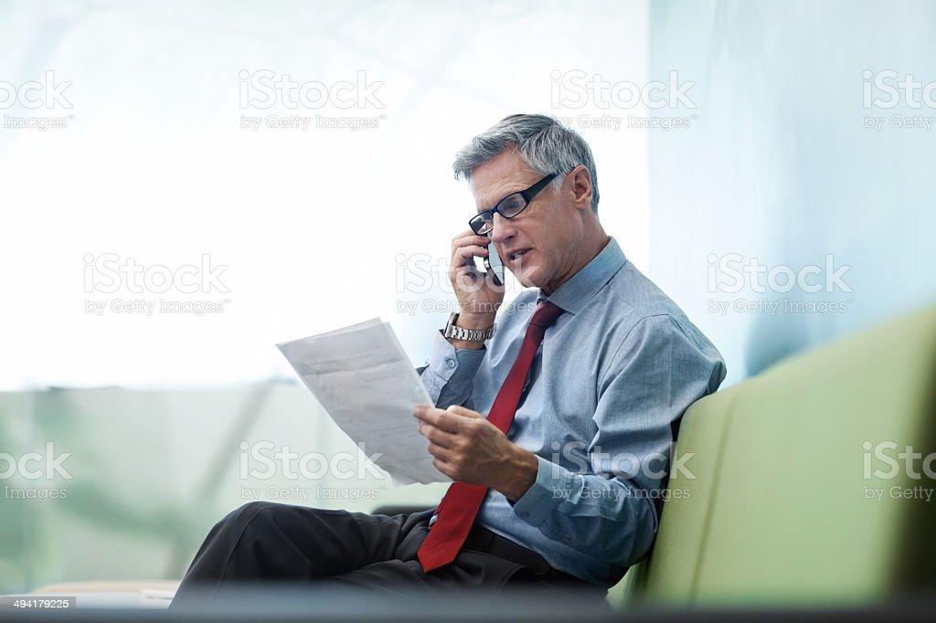 Er ist in seines Unternehmens – Foto