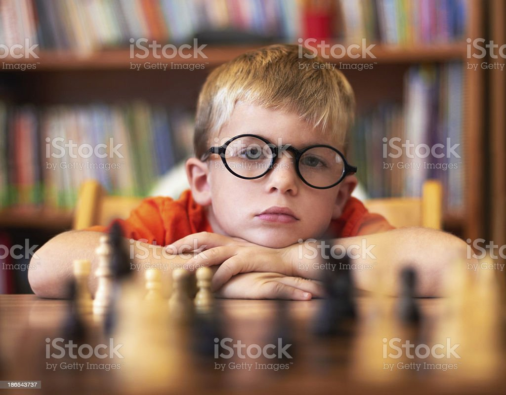 He's in need of better opponents! stock photo