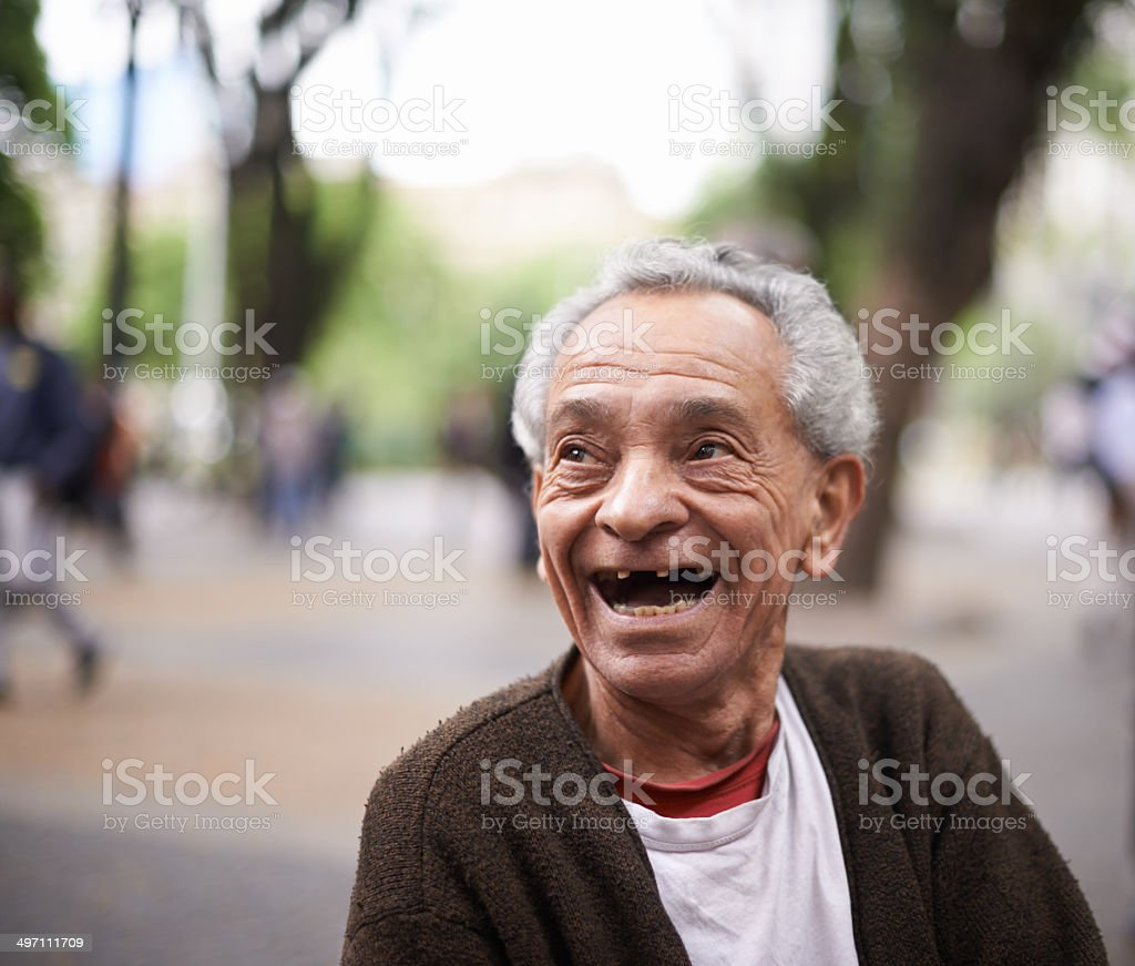 He's lived quite the life stock photo