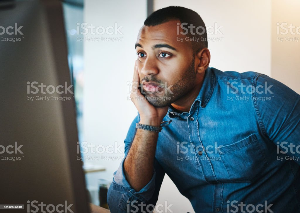 He's lost his passion for his job royalty-free stock photo