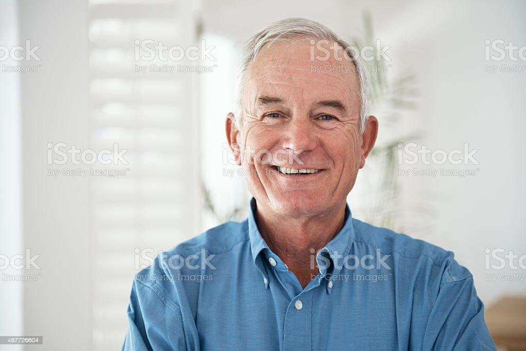 He's making the most of his golden years stock photo