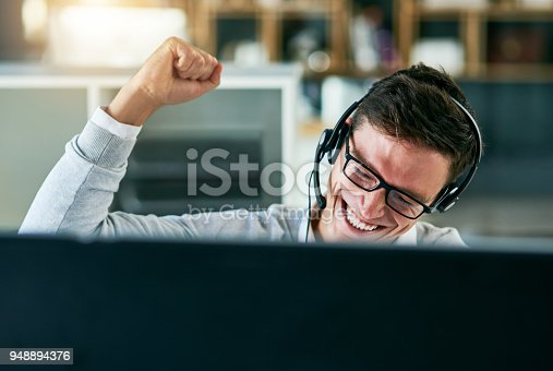 istock He's mastered the best way to sell the company's brand 948894376
