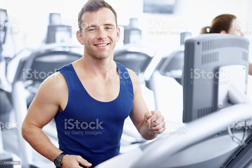 He's motivated to keep living a healthy lifestyle royalty-free stock photo