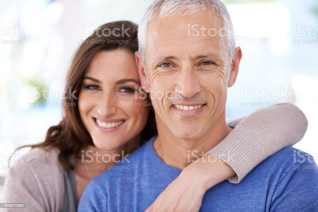 He's my better half stock photo