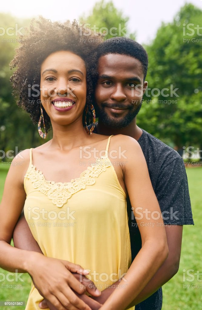 He's my happily ever after stock photo