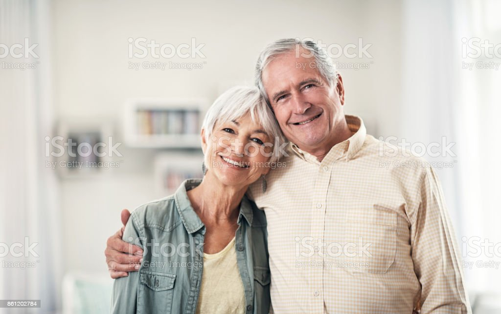He's my happy place stock photo