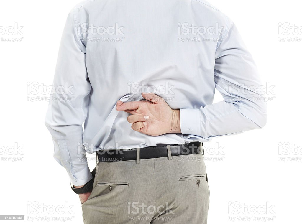 He's not a trustworthy corporate ally stock photo