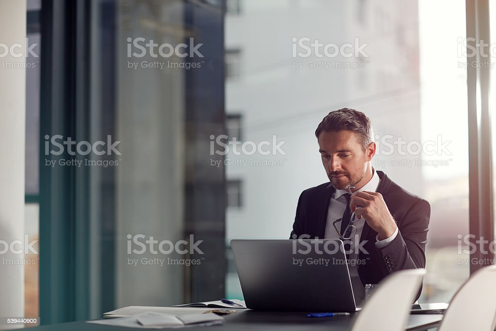 He's on track to success stock photo