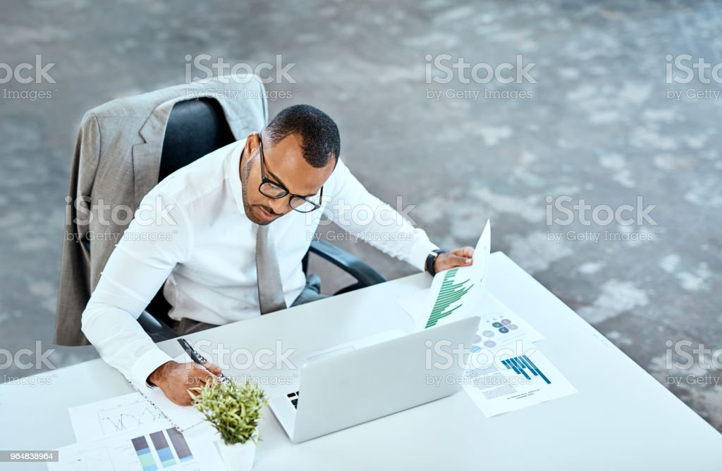 He's one busy businessman royalty-free stock photo