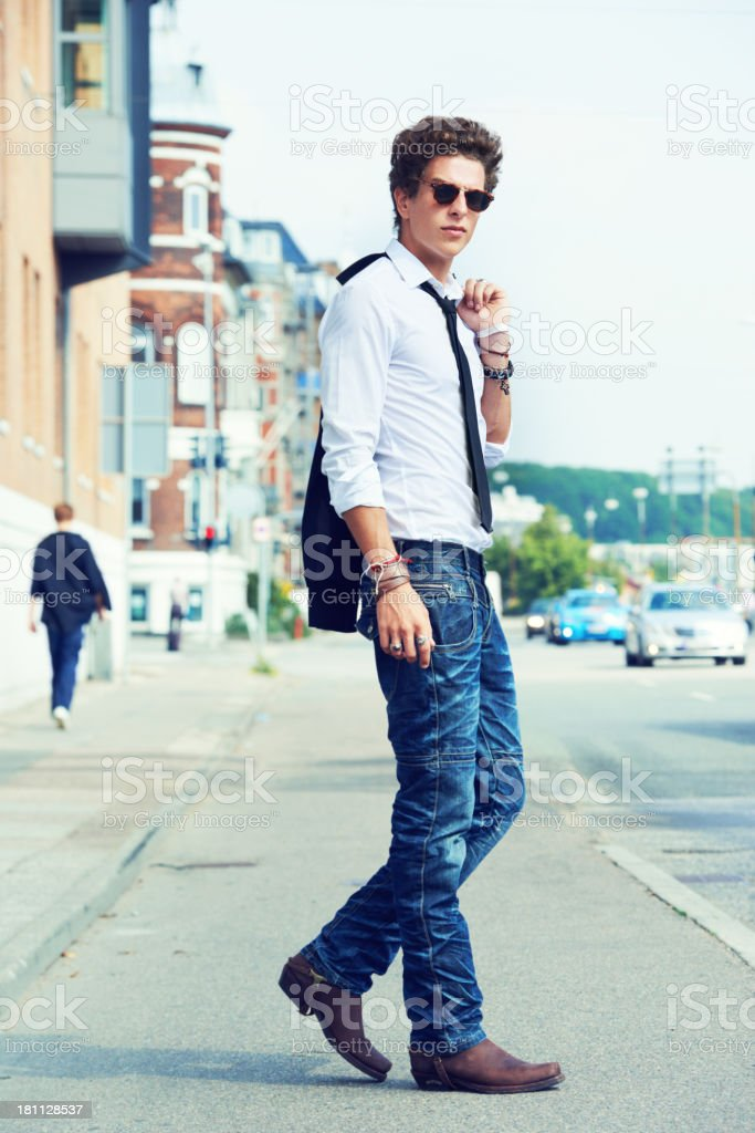 He's one cool guy! stock photo
