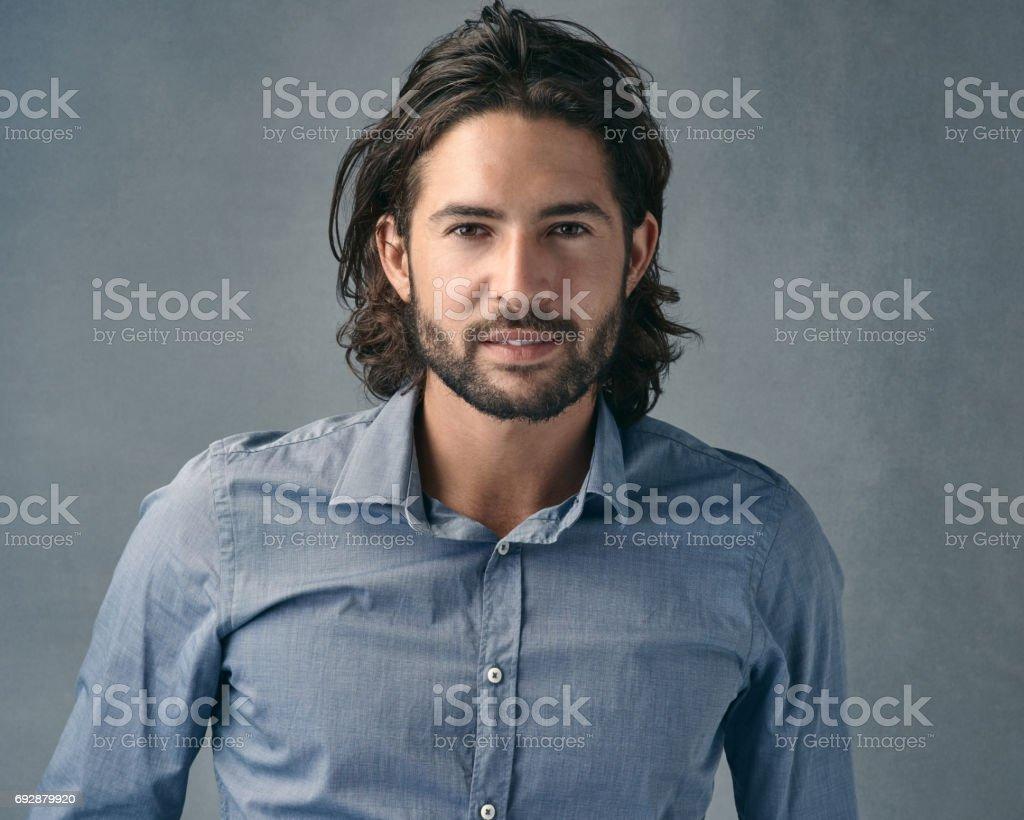 He's one good-looking fella stock photo
