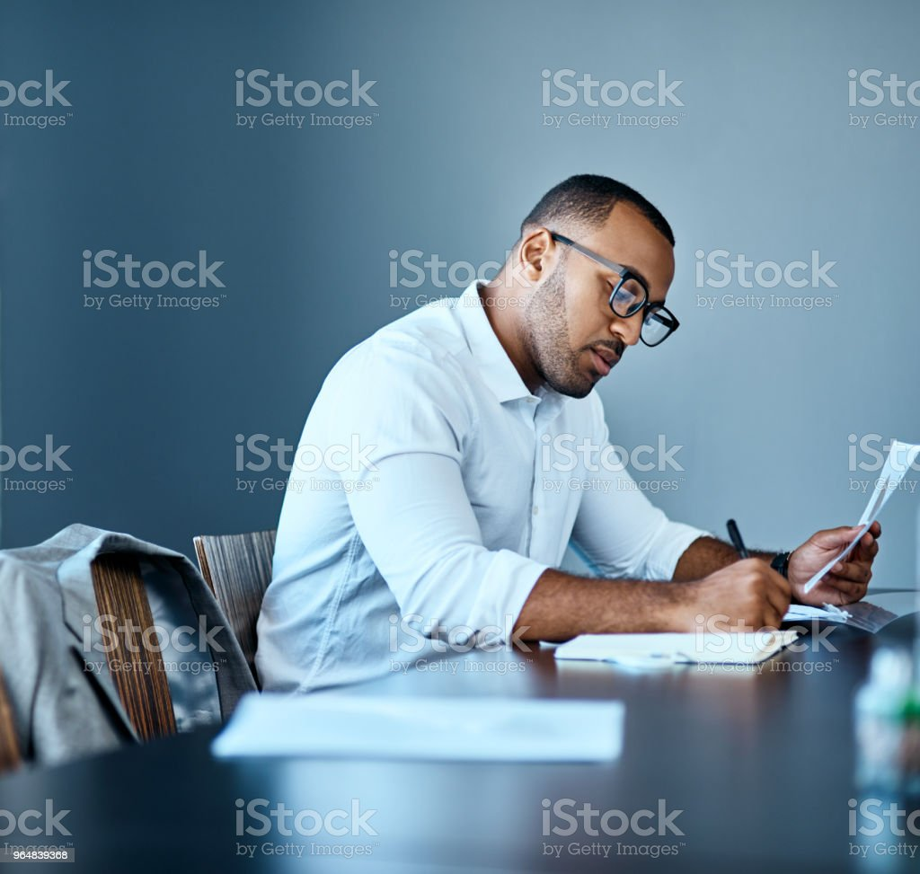 He's one hardworking professional royalty-free stock photo