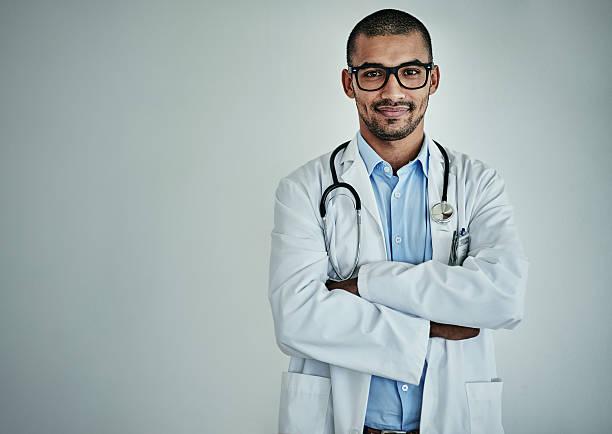 he's one of the top healthcare professionals - hospital studio bildbanksfoton och bilder