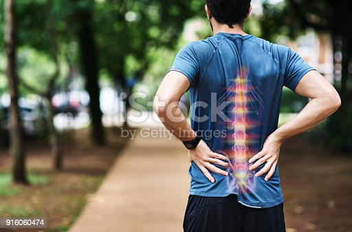 istock He's overdone it this time with his training 916060474