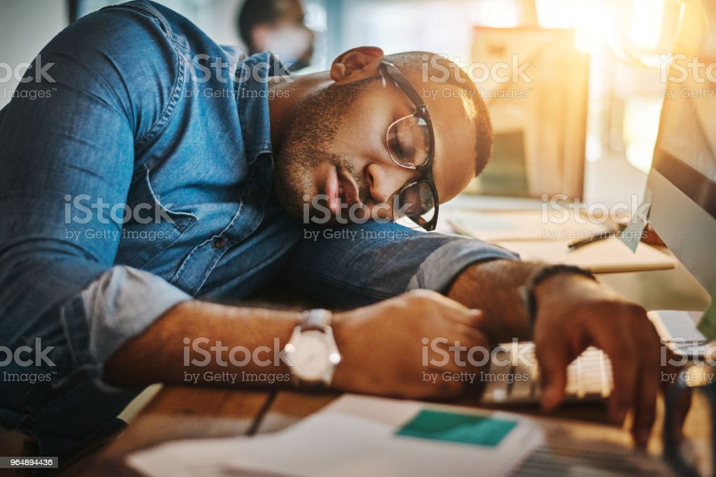 He's passed the point of productivity royalty-free stock photo