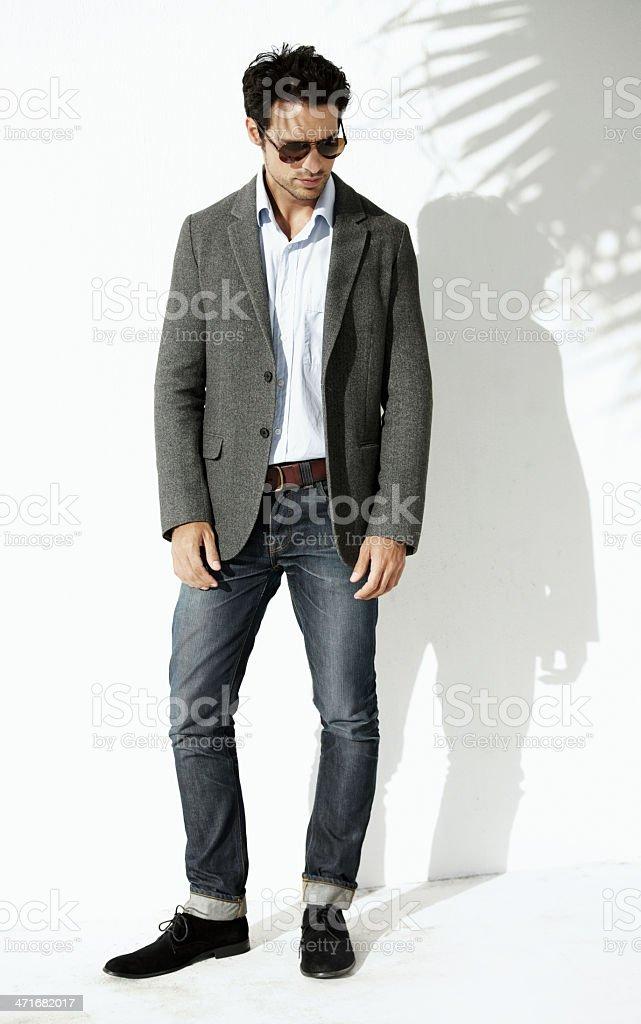 He's pretty stylish royalty-free stock photo