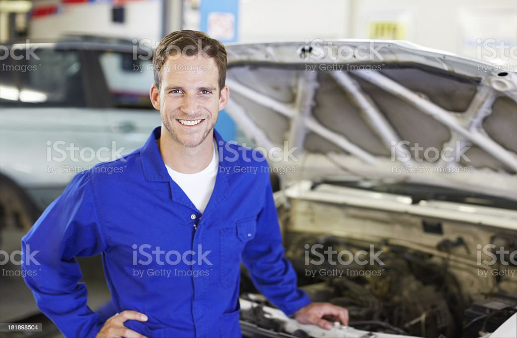 He's proud of his job royalty-free stock photo