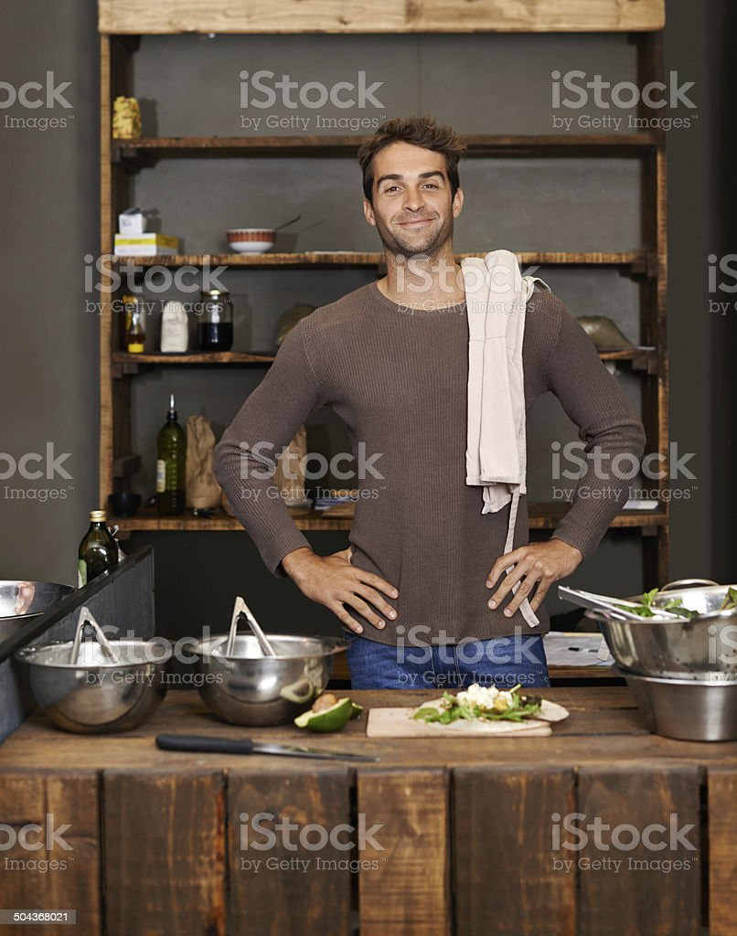 He's proud to be an entrepreneur stock photo