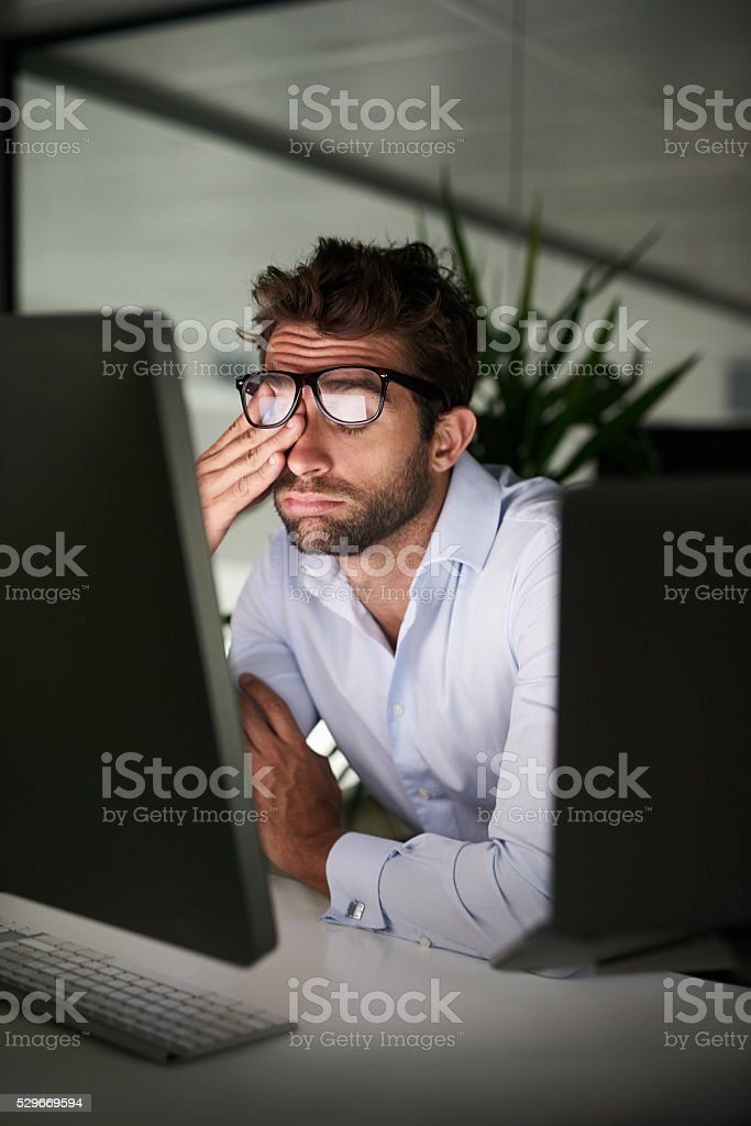 He's reached his limit stock photo