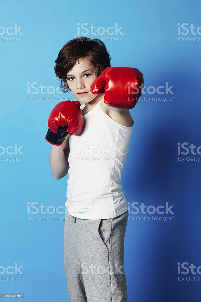 He's ready for a fight stock photo