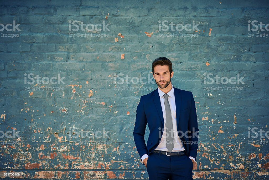 He's ready for success stock photo