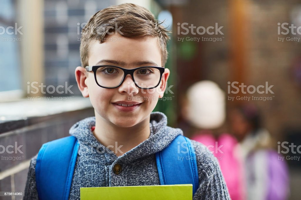 He's ready for the next class stock photo