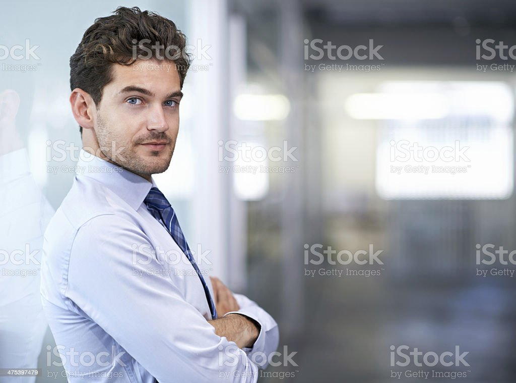 He's ready to take on the business world stock photo
