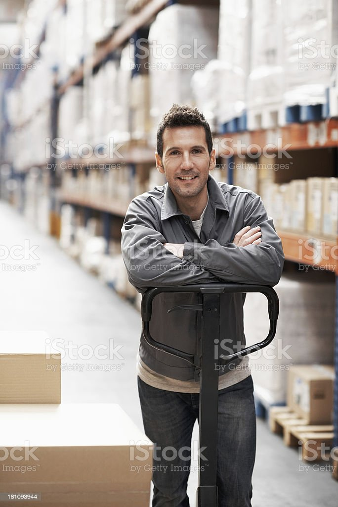 He's ready with your inventory stock photo