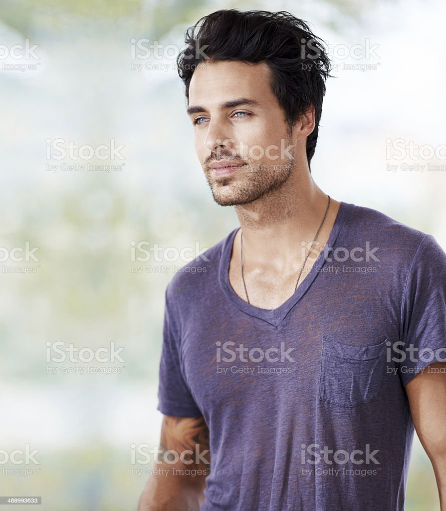 He's ridiculously good-looking! stock photo