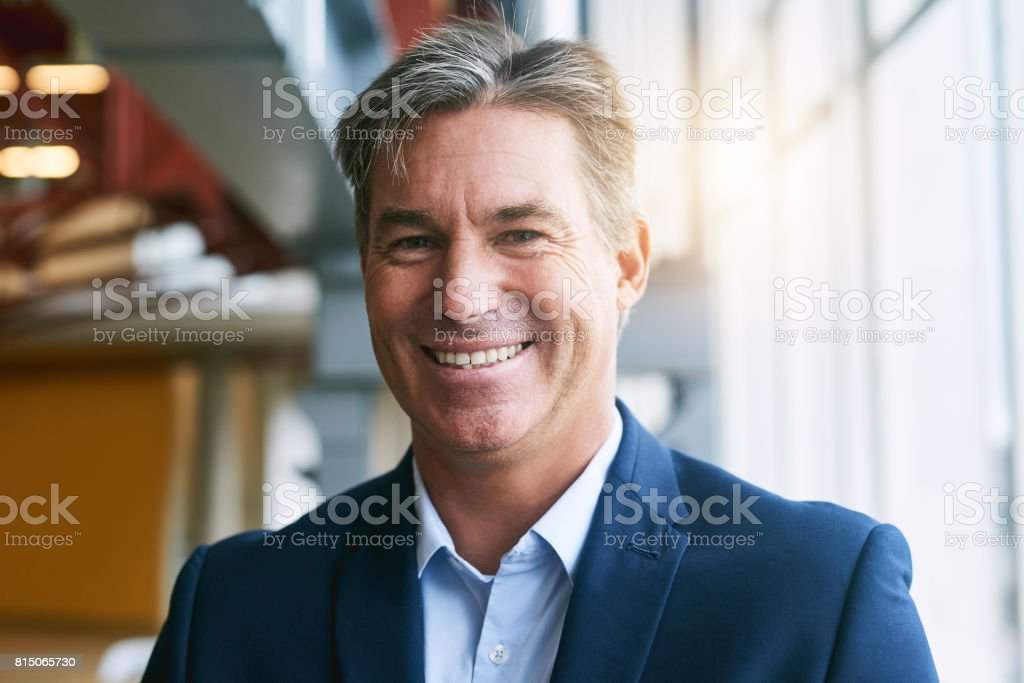 He's risen to unmatched heights in his career stock photo