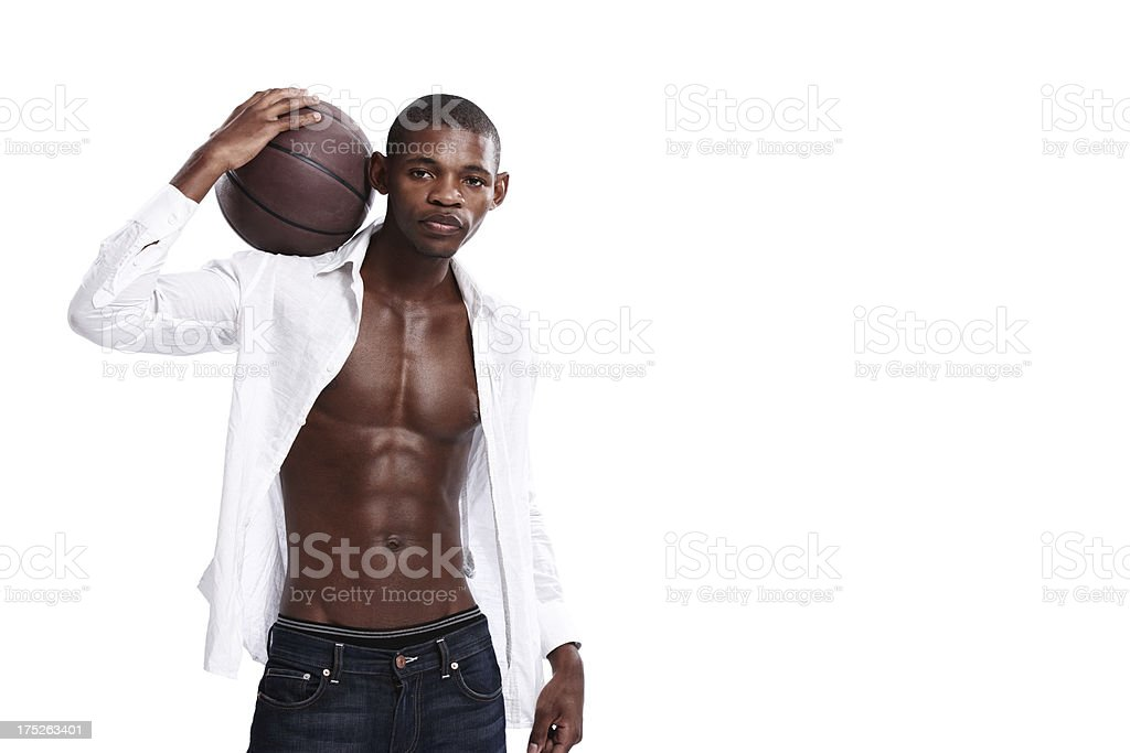 He's serious about sport royalty-free stock photo
