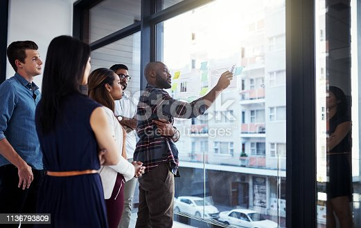 496441730istockphoto He's showing them his take on things 1136793809