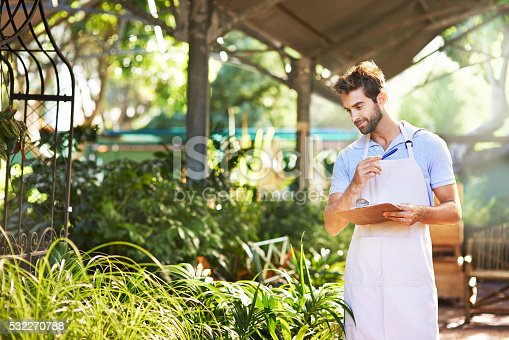 istock He's stocked his nursery with a vast array of plants 532270788