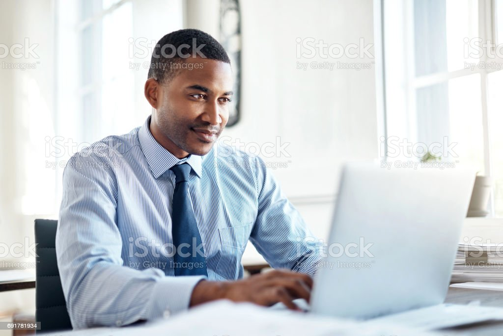 He's the best when it comes to business stock photo