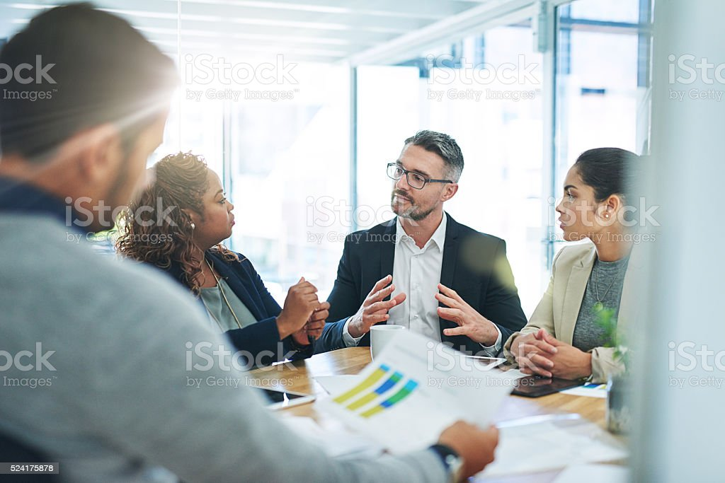 He's the lead on this project stock photo