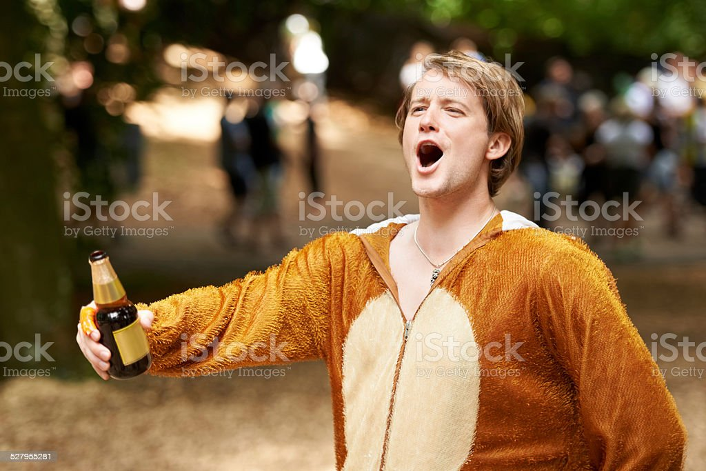 He's the life of the party stock photo