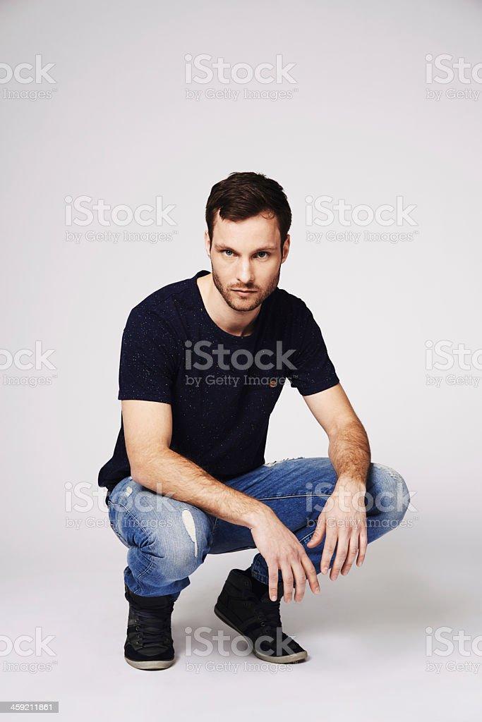 Ele é o recém-tendências modelo masculino - foto de acervo