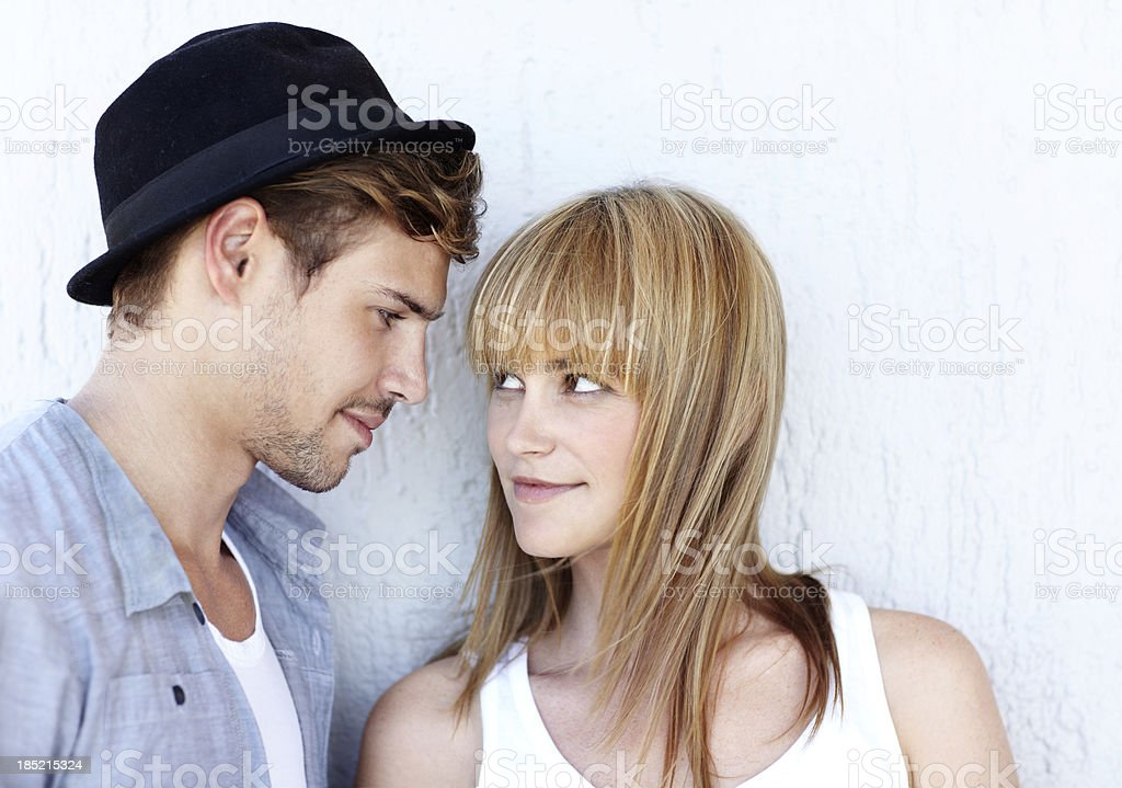 He's the one for me stock photo