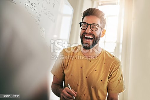 istock He's the one that brings humour to the team 638219322