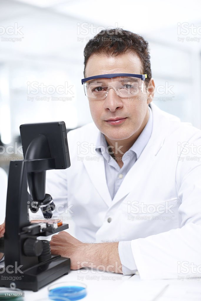 He's the right scientist for this research royalty-free stock photo